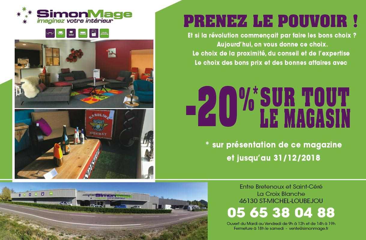 Coupon de réduction - Magasin de meuble Lot