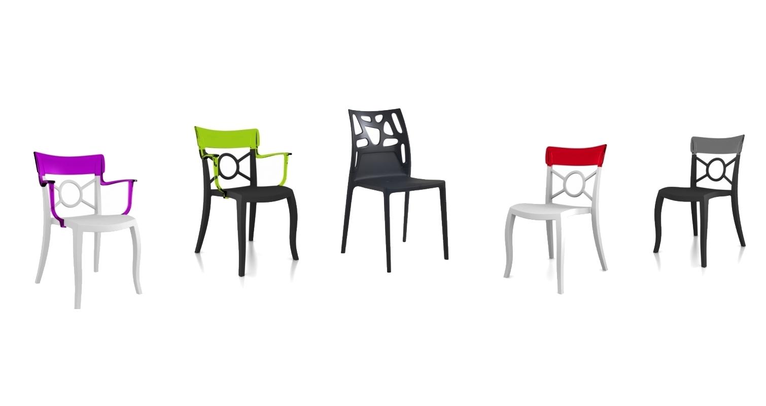 Des chaises de salle à manger colorées - Meubles Simon Mage
