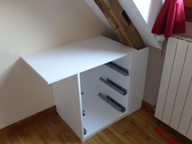 Un meuble sur mesure sous penté
