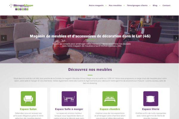 Nouveau site internet Simon Mage